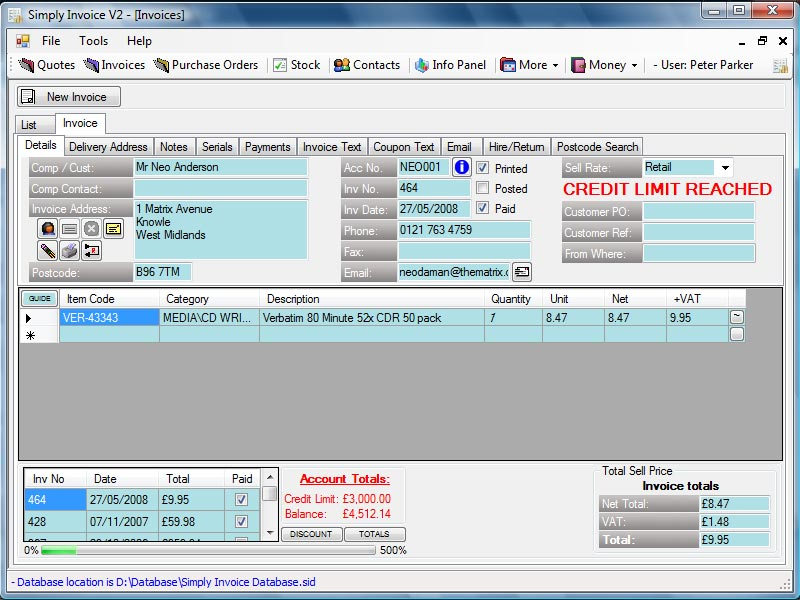 Invoice Software UK Professional Invoicing And Stock Control System - Free invoice system